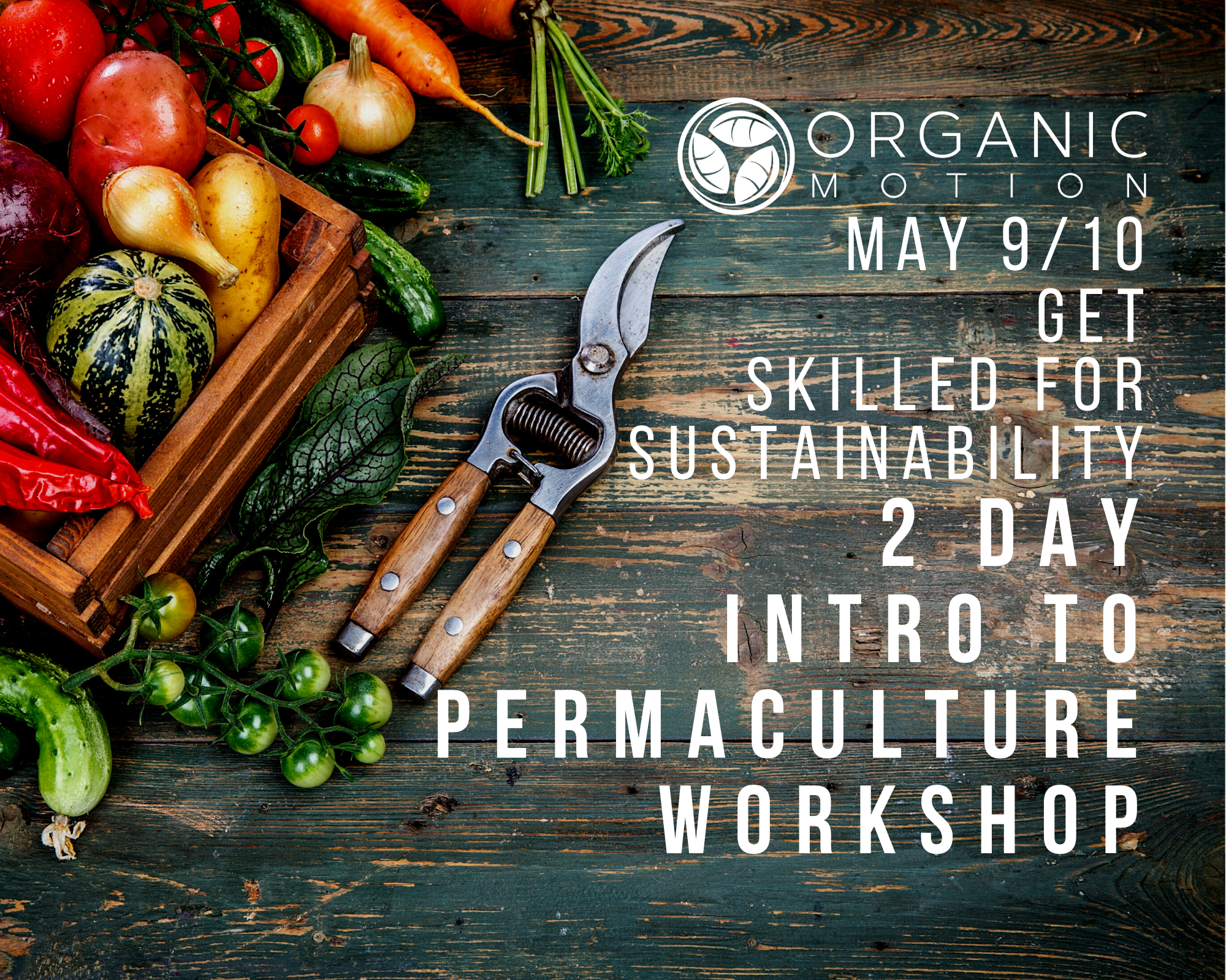 INTRO TO PERMACULTURE MAY 9/10 POSTER